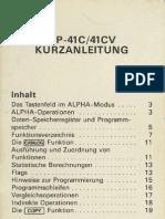 HP41C-Kurzanleitung