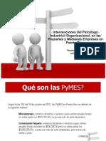 Pequeñas y Medianas Empresas en PR Intervenciones del Psicólogo I/O.