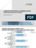 JUNIPER Certification Paths by Credential
