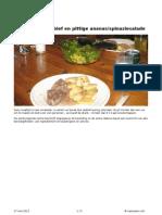 Ovenschotel Rosbief en Pittige Ananas/spinaziesalade