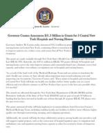 Gov. Cuomo -- HEAL NY Grants in Central New York