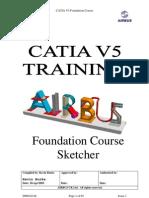 Airbus Catia v5 Sketcher