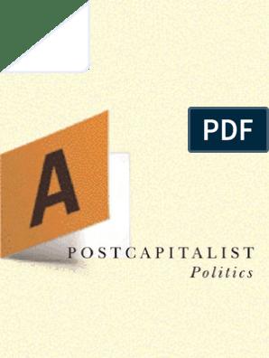 A Postcapitalist Politics Jk Gibson Graham
