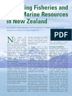 New Zealand Fisheries, Spring 2006