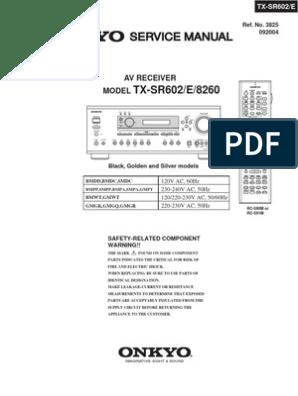 onkyo_tx-sr602-e_8260_sm | Digital To og Converter | Power Supply on