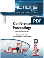 Proceedings of SLACTIONS 2011 International Conference