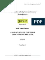 Study of Factor Affecting Customer Retention