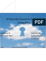 10 security concerns related to cloud