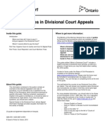 Guide to Fees in Divisional Court Appeals En