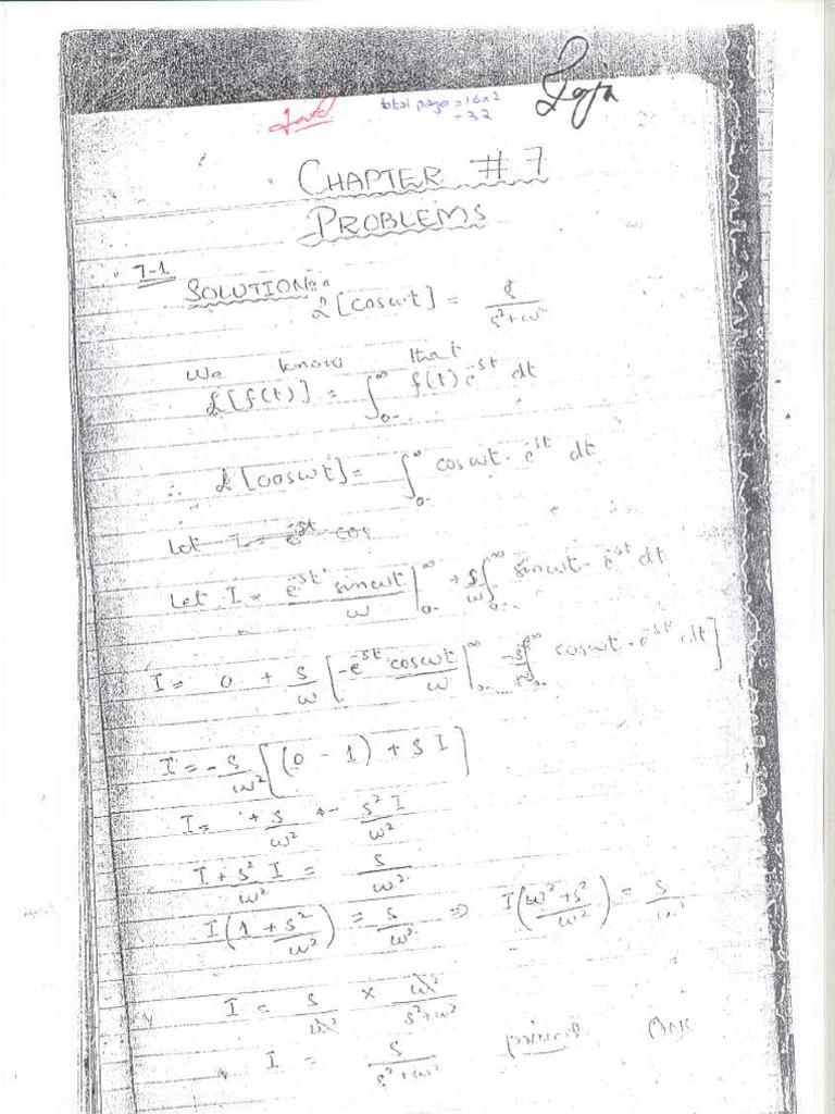 76231072 solution manual of network analysis by van valkenburg chap 7 3 rh scribd com Katie Van Valkenburg Actress Van Valkenburg