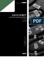 Datasheet Capacitor YAGEO