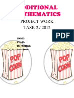 ADDITIONAL MATHEMATICS PROJECT WORK POPCORN KL 2012