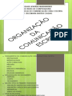ORGANIZAÇÃO DA COMUNICAÇÃO ESCRITA 2