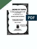 Lessons in Tanya - Vol 1