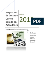 Asignación de Costos y Costeo Basado en Actividades  Rodrigo y Antonio