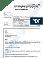 Nbr 11564 - 2002 - Embalagem de Produtos Perigosos - Classes 1 3 4 5 6 8 e 9 - Requisitos e Metod