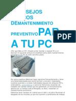 7 CONSEJOS BÁSICOS DEMANTENIMIENTO PREVENTIVOPARA TU PC