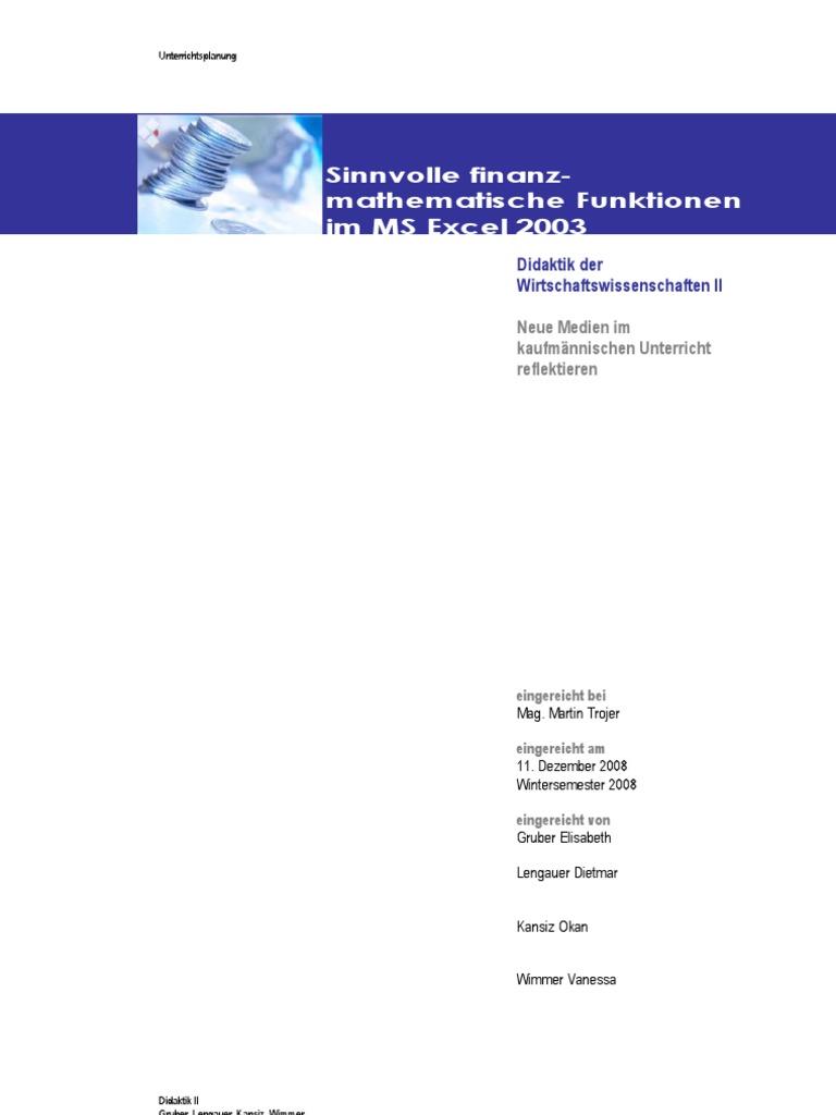 Seminararbeit_Finanzmathematik