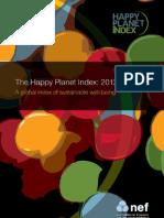 Happy Planet Index Report