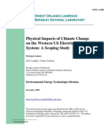 Physical Impacts of Climate Change on the Western US Electricity System
