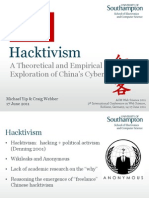 Hacktivism - A Theoretical and Empirical Exploration of China's Cyber Warriors