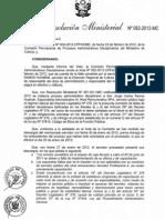 Rm 082- Sancionar a Especialista de La Dr- Ica Con 90 Dias de Suspension Por Falta Disciplinaria