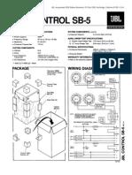 JBL Control SB-5 Service Manual