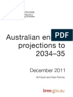 Australian Energy Projections Report