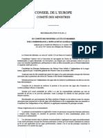 recommandation R(94) 12 sur l'indépendance, l'efficacité et le rôle des juges