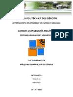Cortadora Lamina electroneumatica