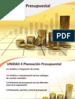Unidad 4 Planeacion Presupuestal. Presentacion