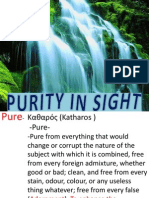 Purity in Christ