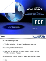 Avasant - Outsourcing Vendor Selection Webinar
