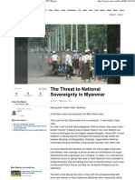 The Threat to National Sovereignty in Myanmar - CNN iReport
