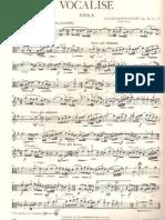 Vocalise Rachmaninoff