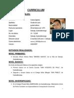Curriculum Ovalle Carlos