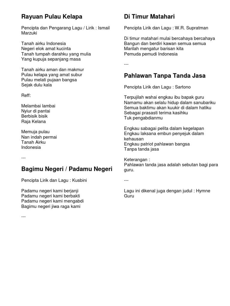 Lagu Hari Kebangsaan Malaysia 2018 Ke Joglo