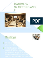 Presentation on Company Meeting and Its Type (2)