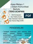 Bahasa Dalam Komunikasi (Teks Ucapan)