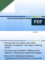 Intro to Envi - Ecology