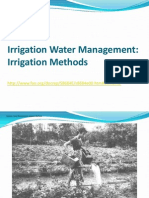 Irrigation Water Management - Irrigation Methods (FAO)