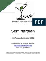 Seminarplan Santé Juli-Sept.2012