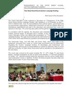 CF Disclosure Implementation Report 2010