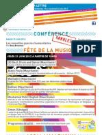 La Lettre de l'IFM Du 17 Au 22 Juin 2012