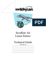 WorldSpan - 9I05 SecuRate Air Linear Entries Technical Guide