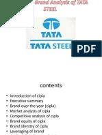 Strategic Brand Analysis of TATA STEEL