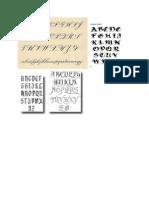 Calligraphy Alphabet A