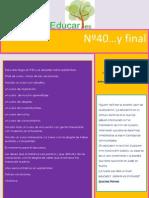 Educares. Newsletter nº 40