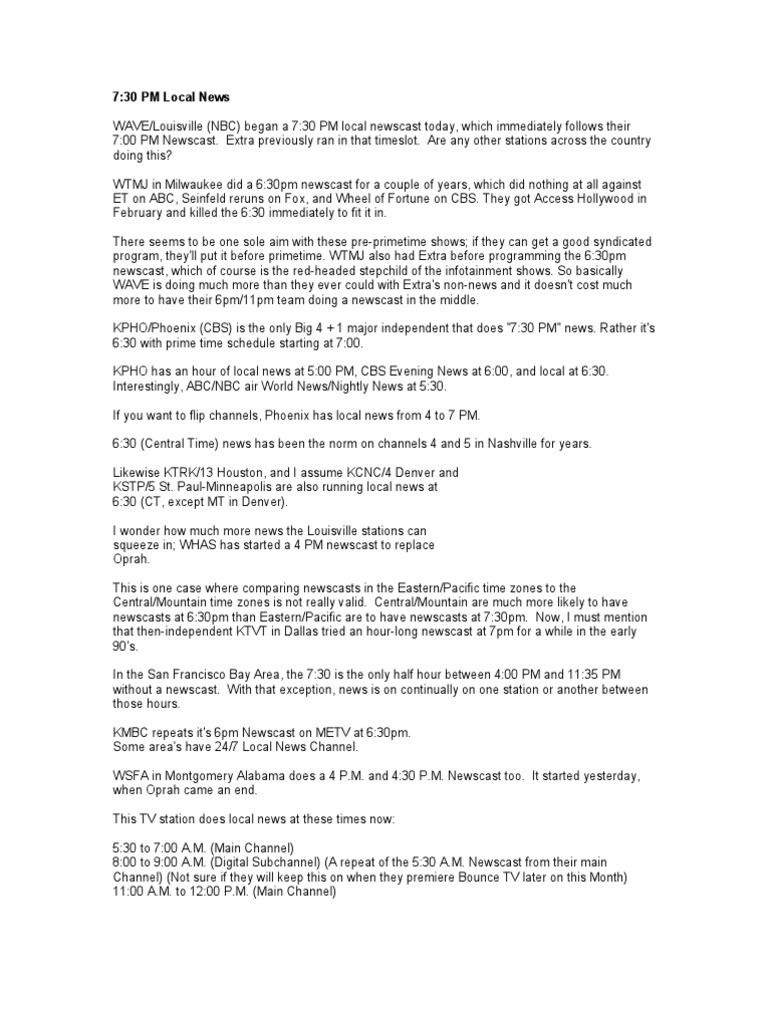 Document 27 | News Broadcasting | Cbs