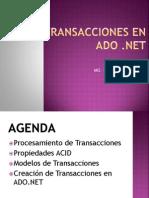 Transacciones en ADO.NET